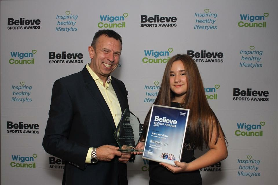 Amy Kershaw – runner up in the Wigan Believe Sports Awards