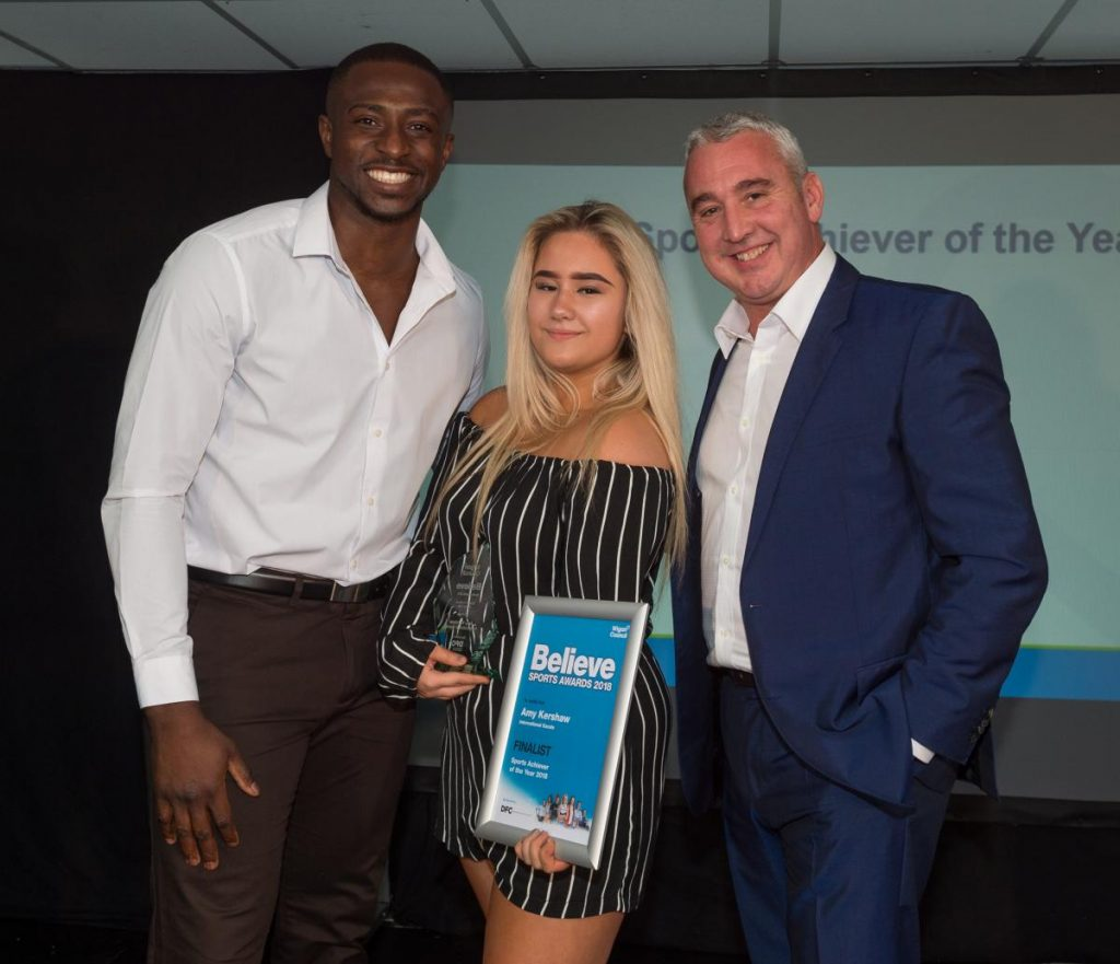 Congratulations to Amy Kershaw at the Wigan Council Believe Sports Awards