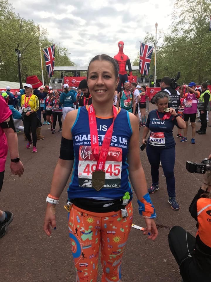 Lisa Napier – running the London Marathon for the second time in aid of Diabetes UK